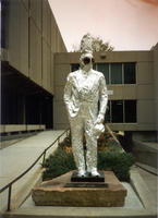 "Thumbnail for 2005 Tin Foil Charles Leaming (""Chas"") Tutt statue, decorated."