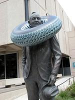 "Thumbnail for 2006 Life saver Charles Leaming (""Chas"") Tutt statue, decorated."