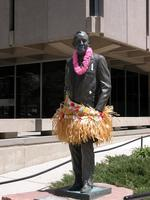 "Thumbnail for 2007 Stress free Charles Leaming (""Chas"") Tutt statue, decorated."