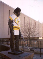 "Thumbnail for 2009 Hockey Charles Leaming (""Chas"") Tutt statue, decorated."