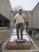"Thumbnail for 2013 Football Charles Leaming (""Chas"") Tutt statue, decorated."