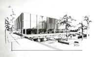 Thumbnail for Tutt exterior architect drawing 1960