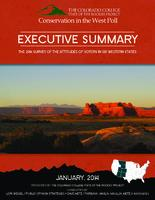 Thumbnail for [2014] Executive summary : conservation in the West poll ; the 2014 survey of the attitudes of voters in six Western states