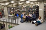Thumbnail for Students studying in Tutt Library (third floor)  [2011 Block 5]
