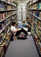 Thumbnail for Students studying in Tutt Library (basement)  [2011 Block 5]