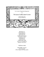 Thumbnail for [2014-04-06] The Lanner Faculty Artist Concert