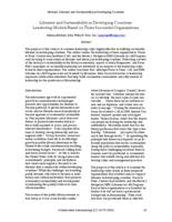 Thumbnail for Libraries and sustainability in developing countries : leadership models based on three successful organizations